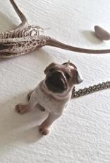 PIKA&BEAR Pika & Bear Necklace 'Pug Life' Porcelain Pug Pendant