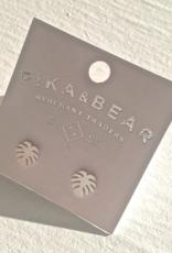 PIKA&BEAR Pika & Bear Earrings 'Monstera' Leaf Studs