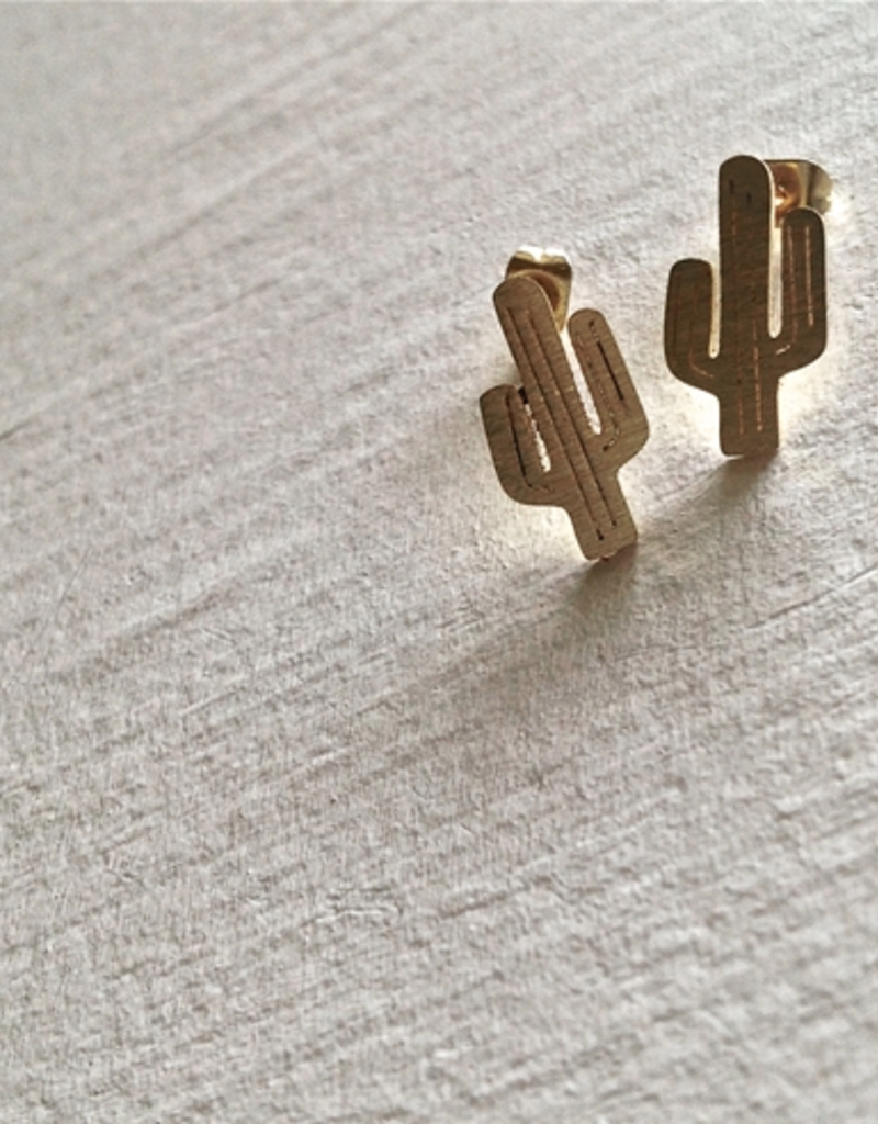 PIKA&BEAR Pika & Bear Earrings 'High Noon' Cactus Stud