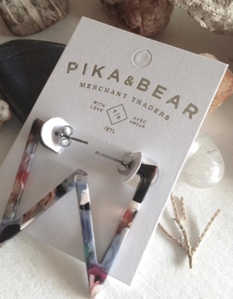 PIKA&BEAR Pika & Bear Earrings 'Flying V' 4cm Acetate