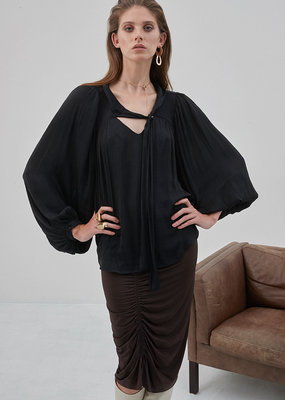 Soaked in Luxury Soaked in Luxury Everlyn Blouse L/Slv Puff W/ Neck Tie