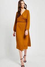 GENTLE FAWN Gentle Fawn Kaya Midi skirt w/ Asymmetrical Slit Elastic Waist