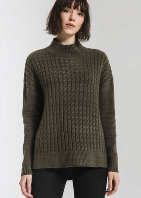 Rag Poets Rag Poets Mathilde Sweater Mock Neck
