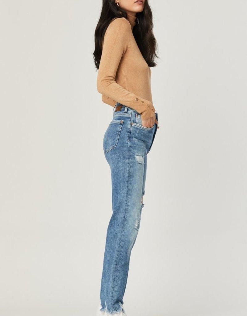 Mavi Jeans Mavi Jeans Lea High Rise Distressed Straight Leg