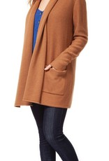 DEX Dex Cardi Open Cardigan w/ Pockets & Rolled Collar
