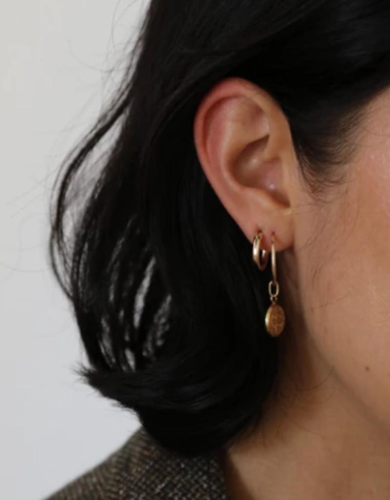 Lisbeth Roma Earrings 16mm Hoops W/ Coin