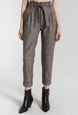 Rag Poets Rag Poets Regina Pants Paper Bag Front Tie w/ Pockets Plaid