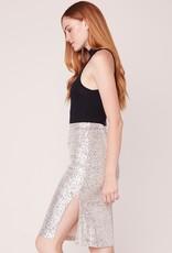 BB DAKOTA BB Dakota Spark This Joy Skirt Midi Sequin w/ Slit