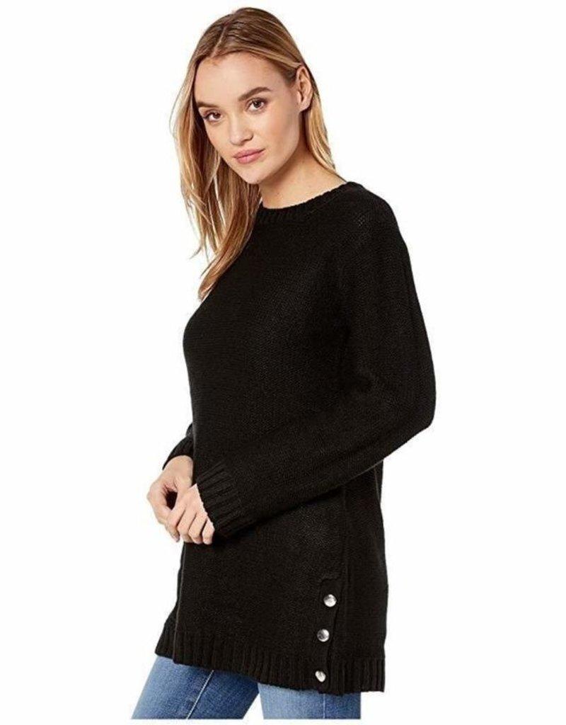 BB DAKOTA BB Dakota Snap Happy Sweater Long P/O w/ Side Button Detail
