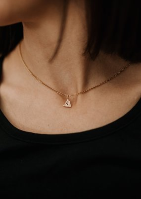 Lace Brick Design Lace Brick Design Single Mountain Peak Necklace