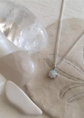 PIKA&BEAR Pika & Bear 'Tiny Dancer' Ocean Opal Charm Necklace
