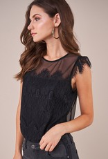 SUGARLIPS Sugarlips Come Back To You Capped S/Slv Lace Bodysuit