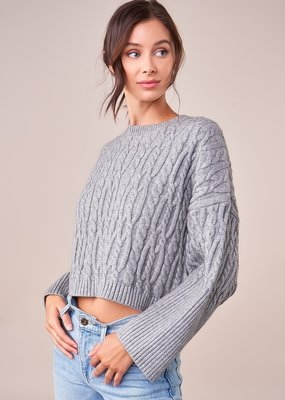 SUGARLIPS Sugarlips Aspen Sweater Chunky Cropped Cable Knit