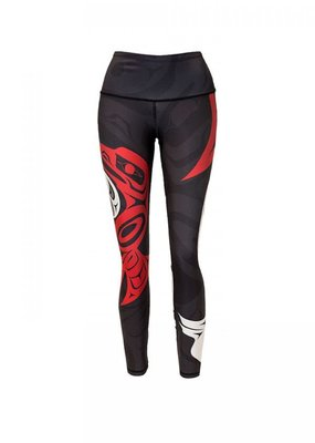 No.Mi.No.U No.Mi.No.U Athleisure Eagle & Raven Ying Yang Full Length Leggings