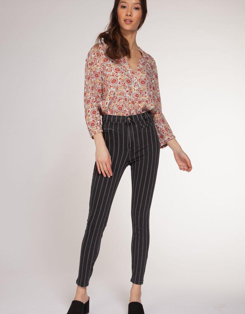DEX Dex Pants High Rise Stripe Jeans