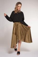 DEX Dex Skirt Leopard Wrap W/ Tie