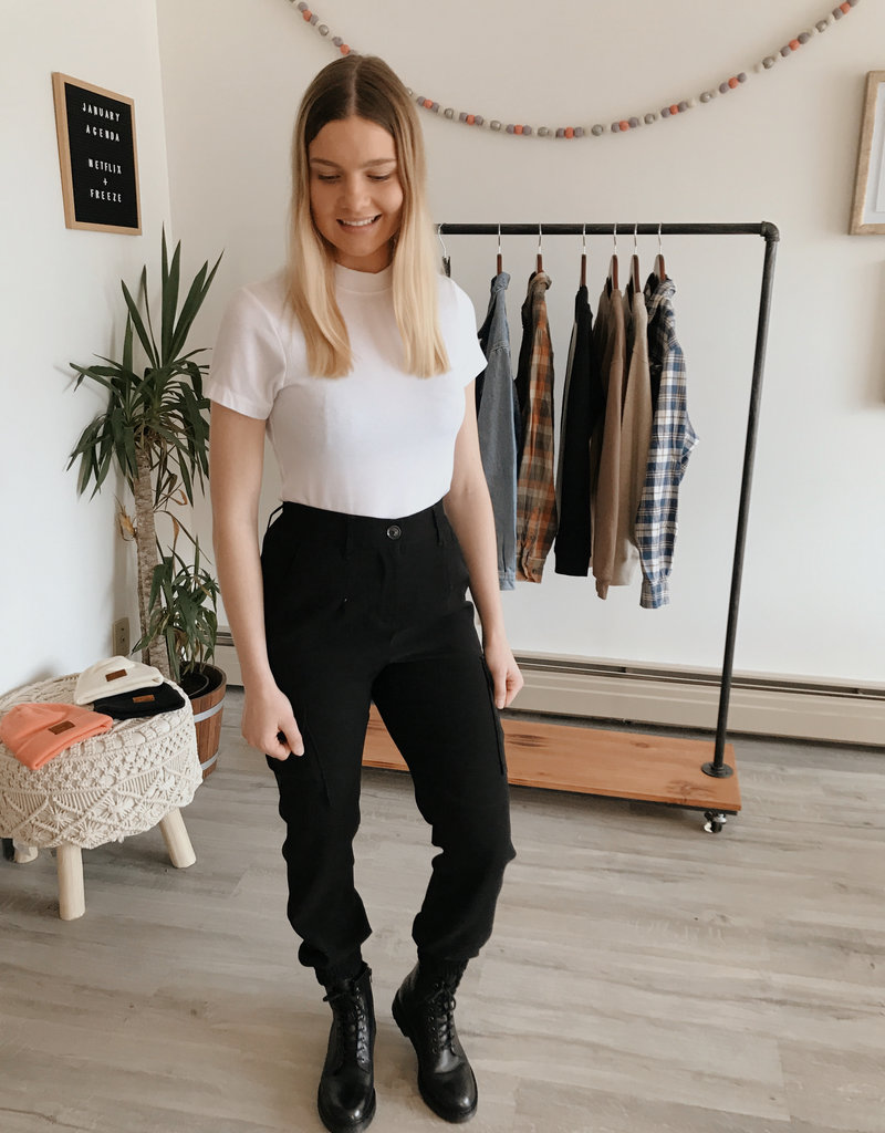 DEX Dex Pants High Waisted Trouser w/ Cargo Pockets