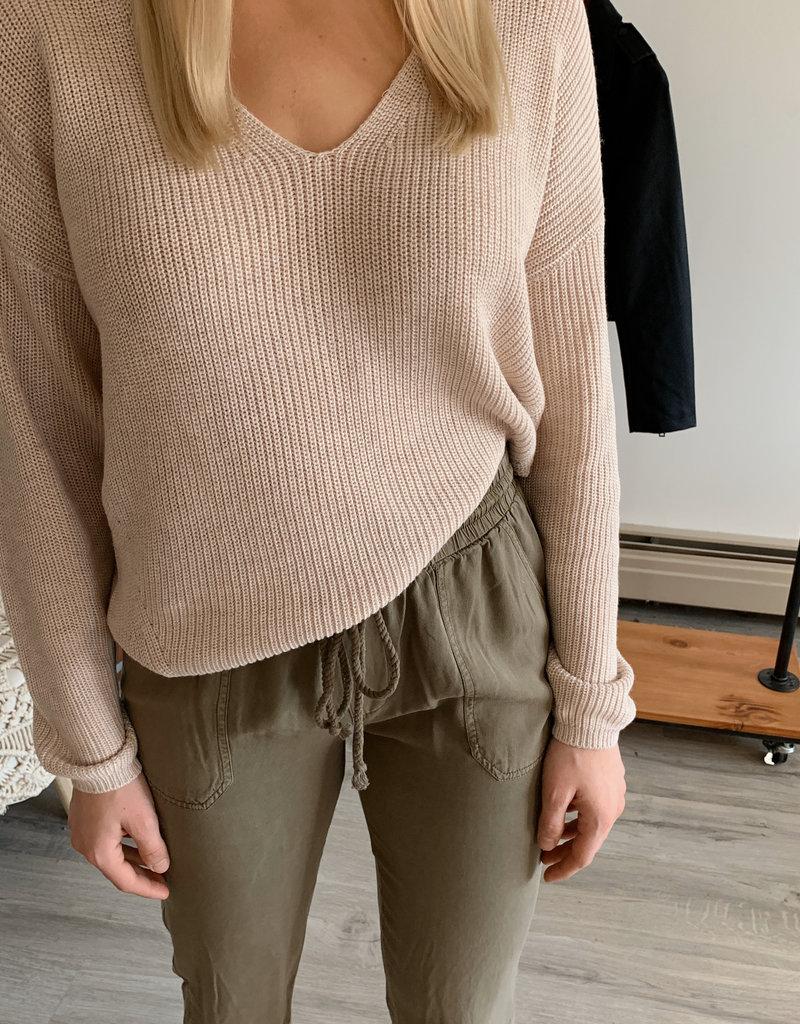 GENTLE FAWN Gentle Fawn Tucker Sweater V-Neck Knit