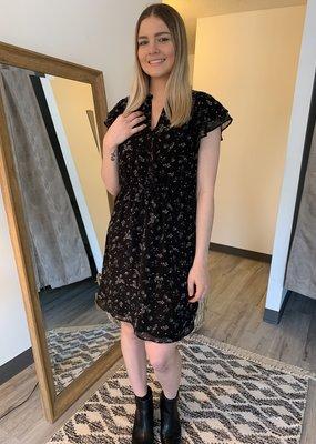 DEX Dex Dress Ruffle Slv Ditsy Floral Mini