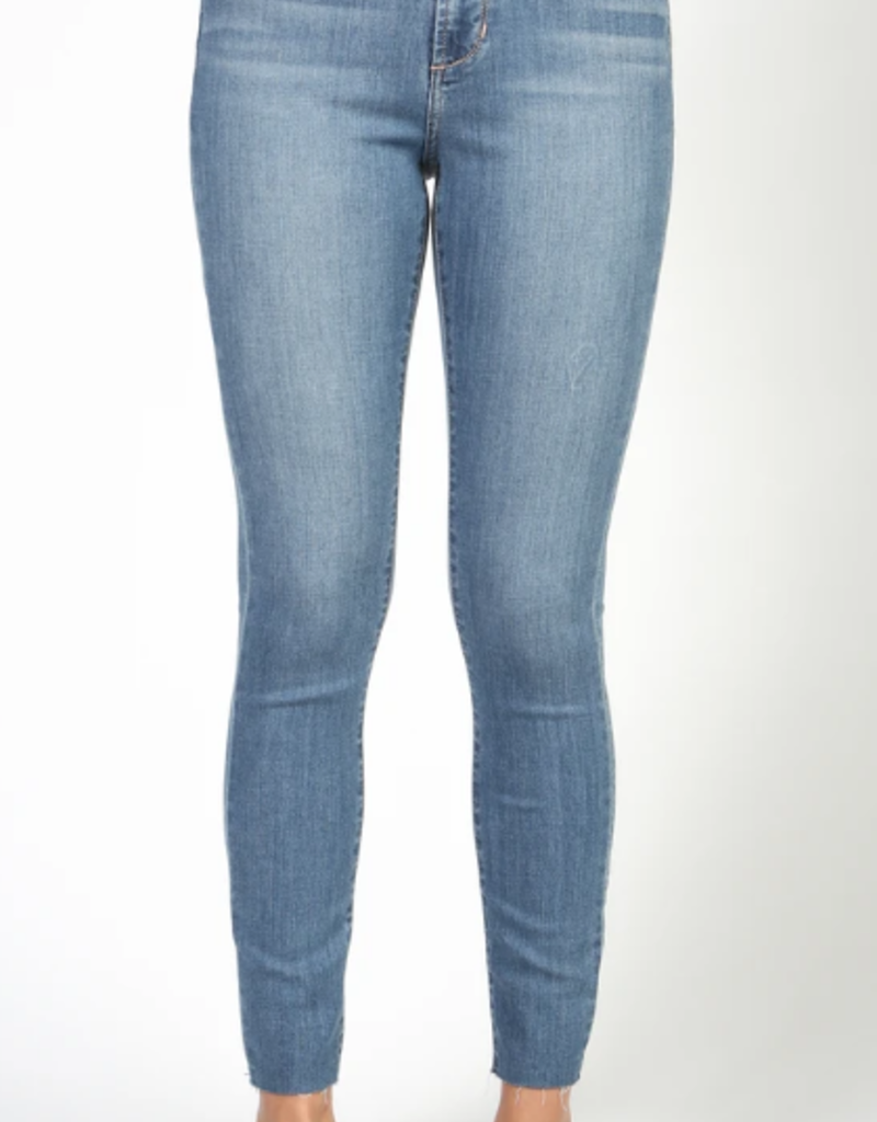 Articles of Society Articles of Society Heather Jeans High Rise Skinng W/ Raw Hem