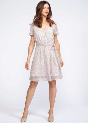 DEX Dex Dress S/Slv Midi Faux Wrap