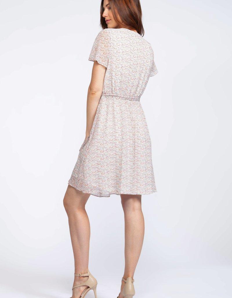 DEX Dex Dress S/Slv Midi Faux Wrap