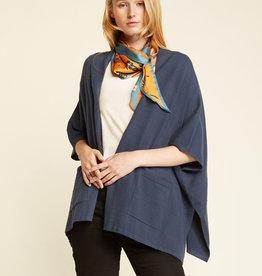 Look by M Look by M Merino Wool Kimono Poncho w/ Pockets