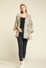 Look by M Look by M Beach Walk Floral Kimono w/ Pockets