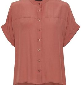 Soaked in Luxury Soaked in Luxury Helia Blouse S/Slv Banded Collar Buttondown