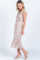 Everly Everly Dress Maxi Floral & Ruffle Detail