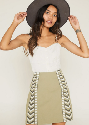 Sage The Label Sage The Label Desert Fever Embroided Mini Skirt