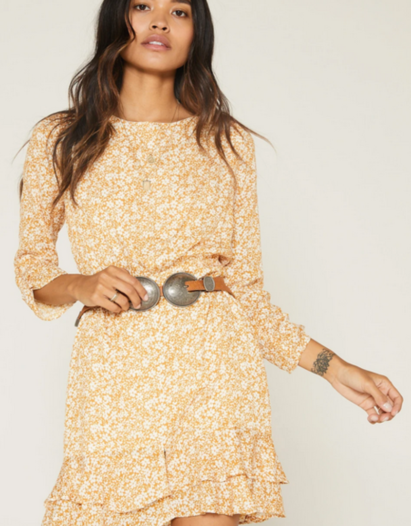 Sage The Label Sage The Label The Wild Honey Dress L/Slv Floral Mini