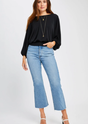 GENTLE FAWN Gentle Fawn Sydney Top Princess Slv Crew Neck Crop