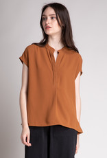 Grade & Gather Grade & Gather Blouse S/Slv Boxy Banded Collar