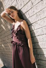 Grade & Gather Grade & Gather Dress Strappy Midi w/ Ruffle Detail