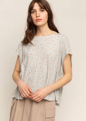 Grade & Gather Grade & Gather Blouse S/Slv Boxy