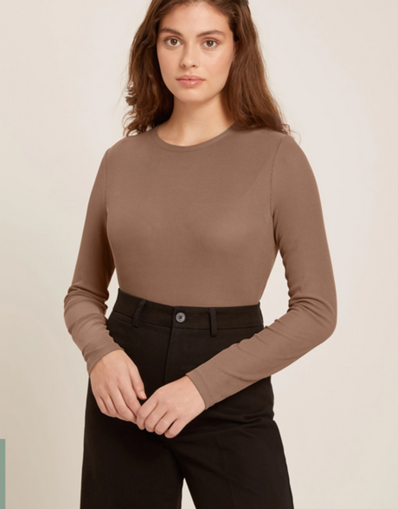 Frank & Oak Frank & Oak Long Sleeved Modal-Blend Ribbed Tee