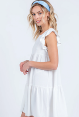 Everly Everly Mini Baby Doll Dress W/ Ruffles