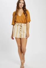 GENTLE FAWN Gentle Fawn Whiteleaf Shorts High Waist W/ Buttons & Tie