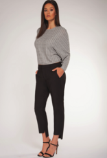 Black Tape Black Tape Top L/Slv Light Knit Cropped W/ Stripes