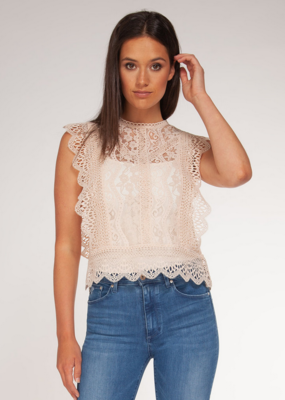 Black Tape Black Tape Blouse Slv/lss Lace Top