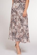 Black Tape Dex Skirt Snake Skin Midi Skirt