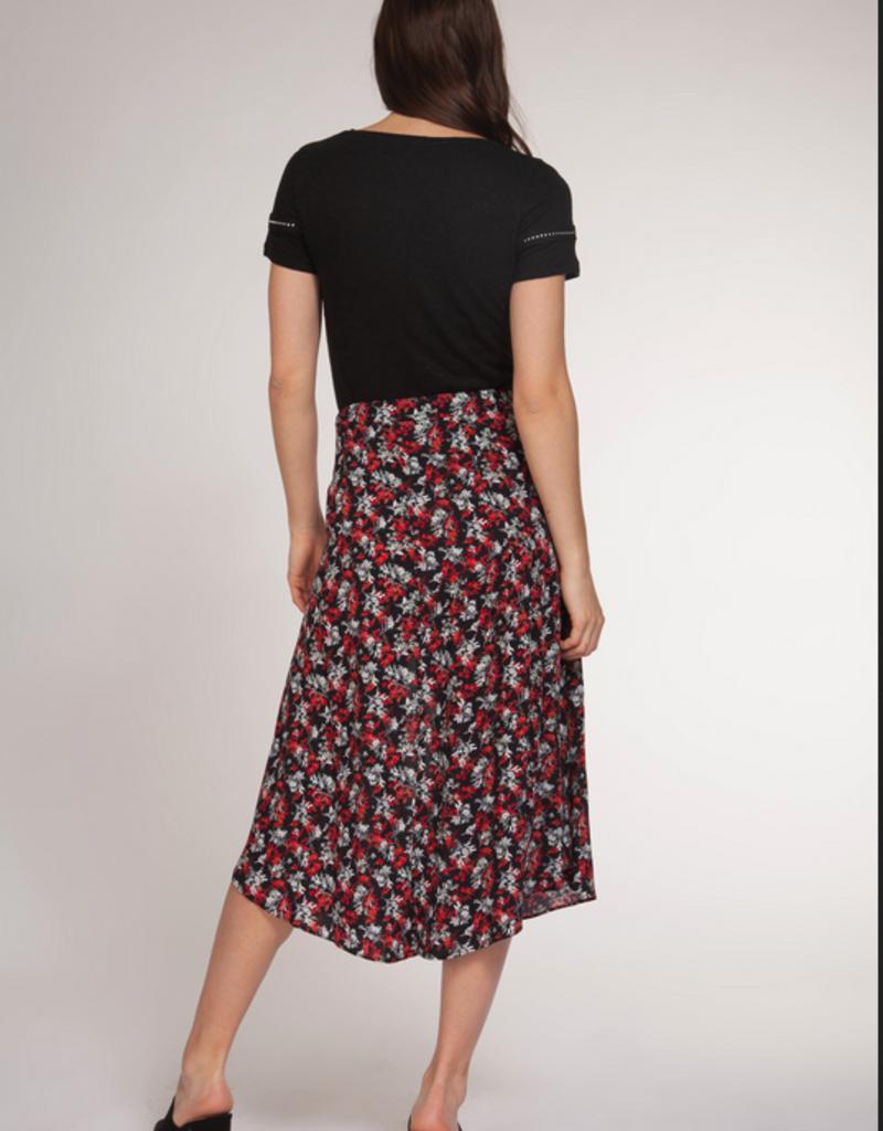 DEX Dex Skirt Midi Skirt W/ Front Slit