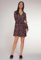 DEX Dex Dress 3/4 Slv V Neck Mock Dress