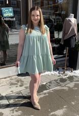 Everly Everly Mini Baby Doll Dress W/ Ruffles