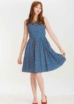 Tulip B Dress Floral Slv/lss Fit & Flare Vintage Midi