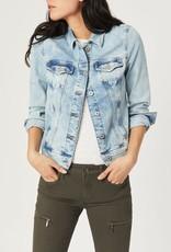 Mavi Jeans Mavi Samantha Denim Jacket w/ Light Distressing