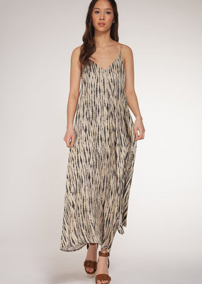 DEX Dex Dress Slv/lss Flowy Tie-Dye Midi