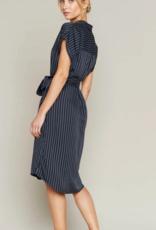 Thread and Supply Thread & Supply French Riviera S/Slv Shirt Dress w/ Waist Tie