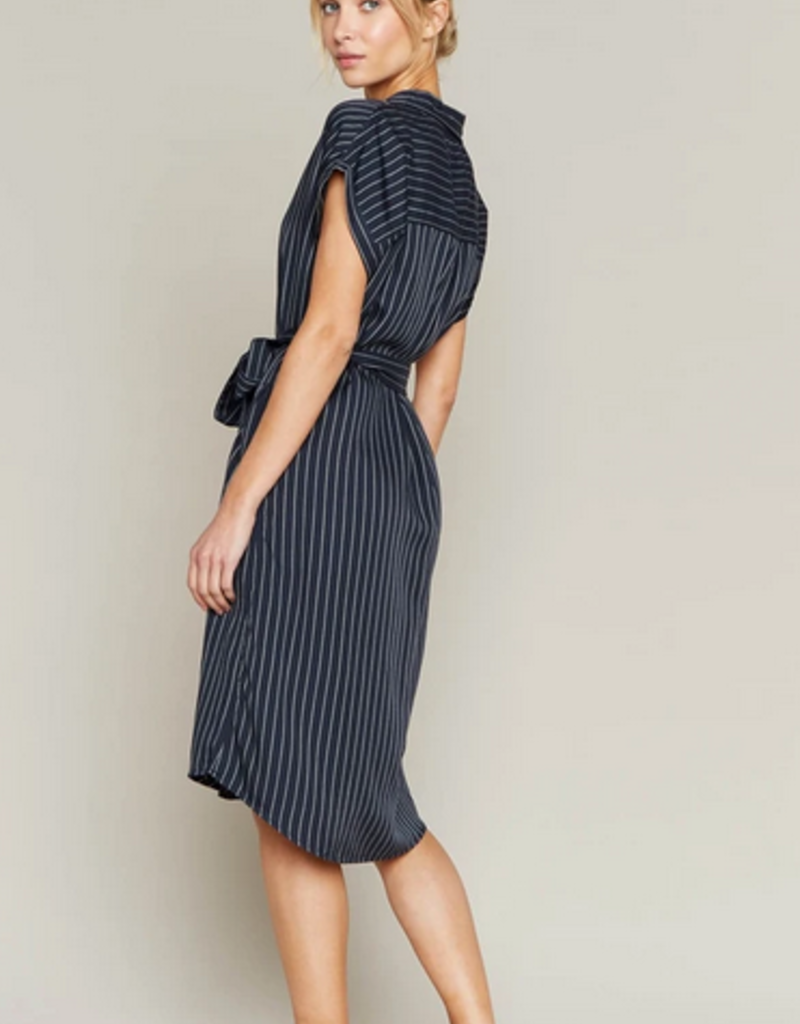 Thread and Supply Thread & Supply French Riviera S/Slv Shirt Dress w/ Waist Tie
